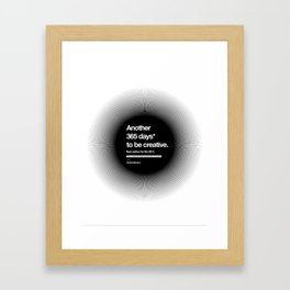 365 Days - Black Framed Art Print