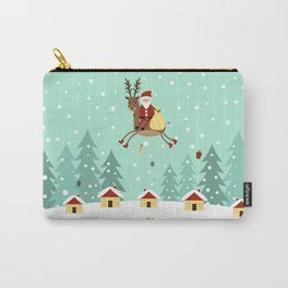 Hello Santa Claus Carry-All Pouch