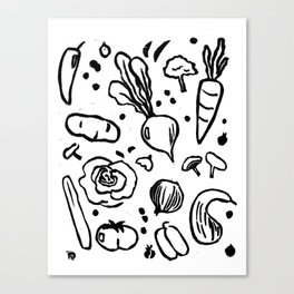 Veggie Print Canvas Print