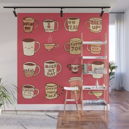 Coffee Society Wall Mural