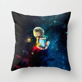 Baby Astronaut Throw Pillow