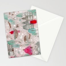 Red and Brown Stationery Cards