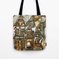 bioshock Tote Bags featuring Bioshock Tea by Dara Gold