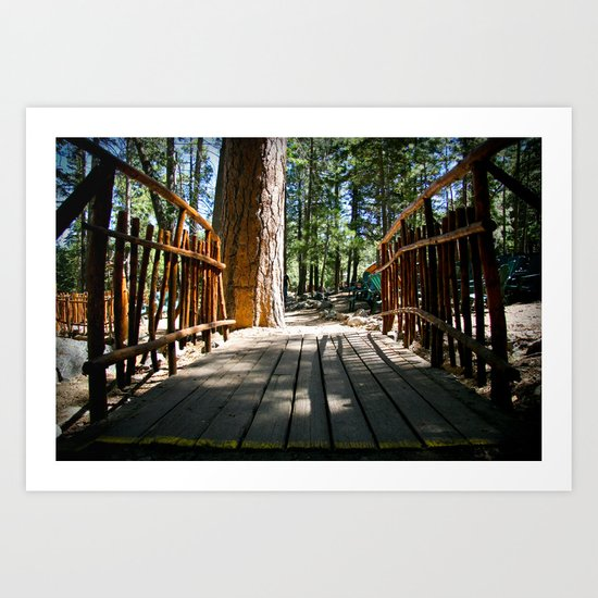 Camp Bridge Art Print