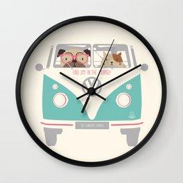 find joy in the journey Wall Clock