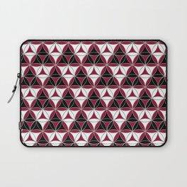 Triad Pattern Black-White-Red Laptop Sleeve