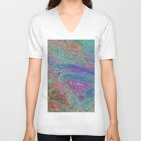 sofa V-neck T-shirts featuring Sahel Kazemi's Sofa by RingWaveArt