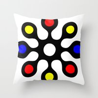 old school Throw Pillows featuring Old School by Nancy Smith
