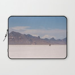 Bicycle Riding on the Boneville Salt Flats in Utah, Travel Photography Laptop Sleeve