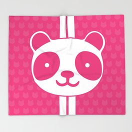 Pink Panda Throw Blanket