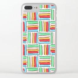 More Bright Retro Weave Clear iPhone Case