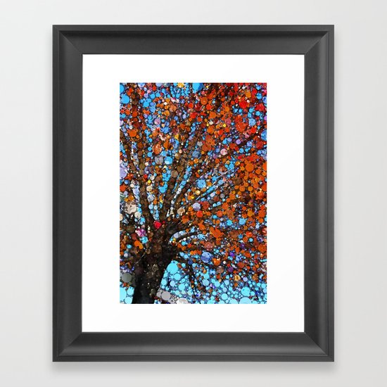 Orange you in love with this tree! Framed Art Print