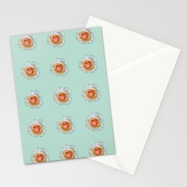 bed of roses: eau de nil wallpaper Stationery Cards