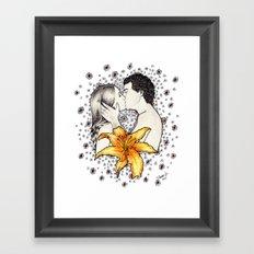 Love is like a Flower... Framed Art Print