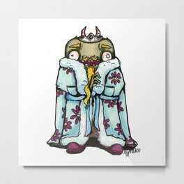Tub King Metal Print