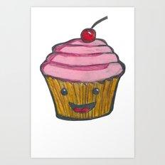 Happy Cupcake Art Print
