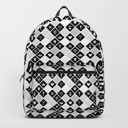 Kingdom Hearts III - Pattern - White Backpack