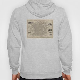 Vintage Map of Manchester England (1851) Hoody