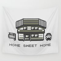 home sweet home Wall Tapestries featuring Home Sweet Home  by Zeke Tucker