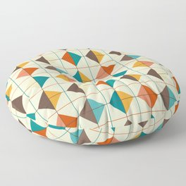 Retro Tiles #1 Floor Pillow