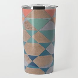 Circles and Triangles Travel Mug