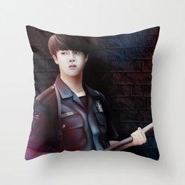 Cop Jin - Bts Throw Pillow