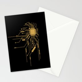 Gold Broken IC Stationery Cards