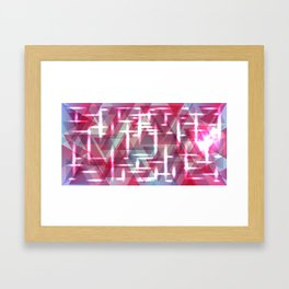 Spring pastel pink shiny triangles. Framed Art Print