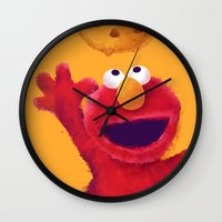 elmo Wall Clocks featuring Cookies 2 by Lime