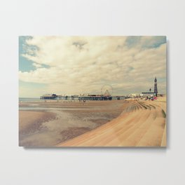 Blackpool Beach Metal Print