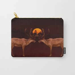 Reindeers With Moon On A Dark Purple Background #decor#buyart #society6 Carry-All Pouch