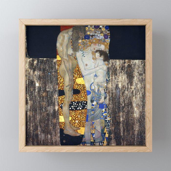 The Three Ages of Woman by Gustav Klimt Framed Mini Art Print