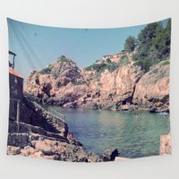 spanish Wall Tapestries featuring Hidden Coves On Spanish Islands by ZBOY