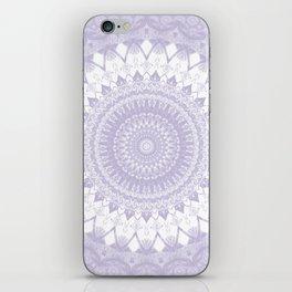 Boho Pastel Purple Mandala iPhone Skin
