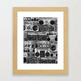 house of boombox Framed Art Print