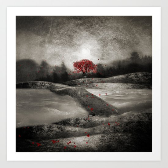 The red sounds and poems, Chapter I Art Print