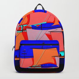 A Clipper Ship at Sea Full Sail at Night under the Stars Backpack