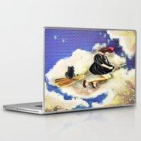 kiki Laptop & iPad Skins featuring kiki and Jiji   by grapeloverarts