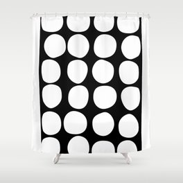Dots black n´white Shower Curtain