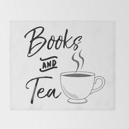 Books & Tea Throw Blanket