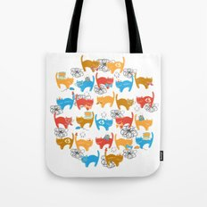 Geek Chic Cats {Nerds, Cameras, Computers, Bow Ties & Glasses} Tote Bag