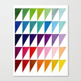 Color Traingles Lover Canvas Print