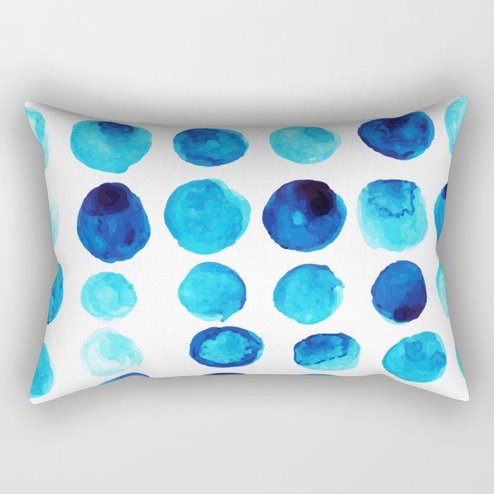 Blue dots Rectangular Pillow