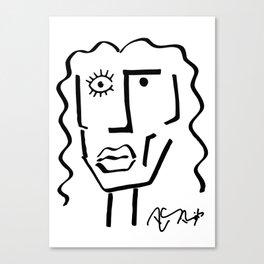 Faire Visage No 10 Canvas Print