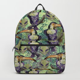 Toucan and aliens Backpack