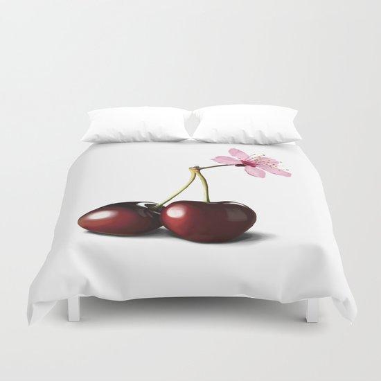 Cherry Blossom, In Memory of Mackenzie Duvet Cover