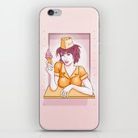 ice cream iPhone & iPod Skins featuring Ice Cream by Anne Cobai