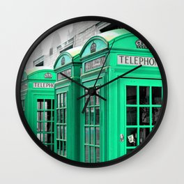 Reed Booths Turned Seafoam Wall Clock