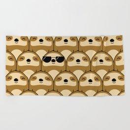 Sloth Army Beach Towel