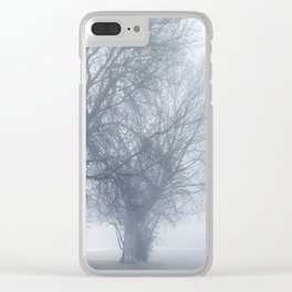 Trees in the Mist Clear iPhone Case